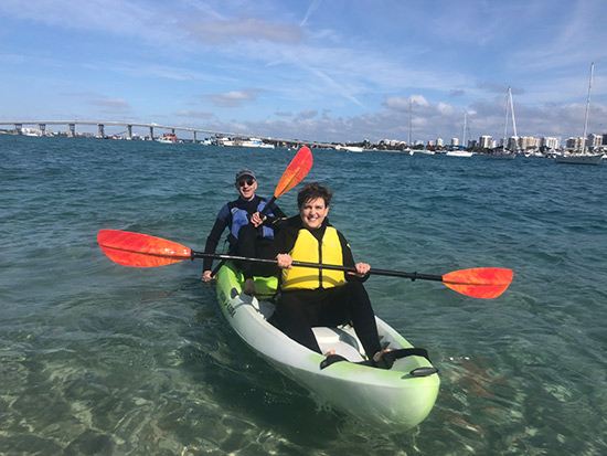 Couple kayaking in Palm Beach